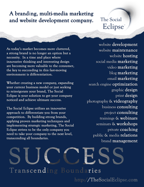 The Social Eclipse - Flyer